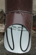 водосточная труба системы антиобледенения