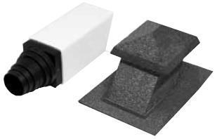 Санитарная вентиляция 15-50 с изолированным соединителем, для труб диаметром 100-160 мм