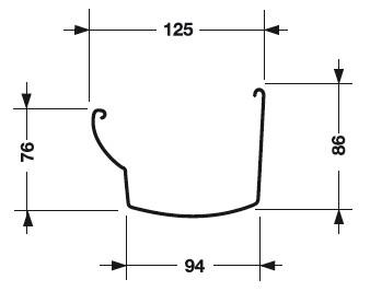 размеры желоба водосточной системы